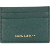 Dolce & Gabbana Porta-Cartões De Couro Com Logo De Letras - Verde