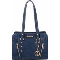 Bolsa Casual Fellipe Krein Feminina - Feminino-Azul Escuro