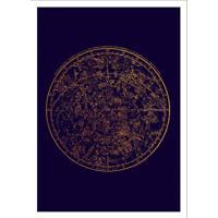 Quadro Decorativo Com Moldura Celestial Azul E Branco (33X24)