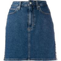 Calvin Klein Jeans Logo Denim Skirt - Azul