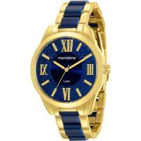 Relógio Mondaine Feminino - Feminino-Dourado+Azul