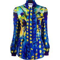 Moschino Blusa Com Estampa De Pintura - Azul