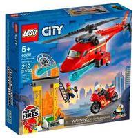 Lego City - Helicóptero De Resgate Dos Bombeiros, 212 Peças - 60281