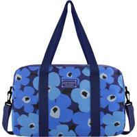 Mala De Viagem Floral - Azul & Azul Escuro - 26,5X38Jacki Design