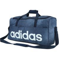 Mala Adidas Linear Performance Duffel M - Azul/Branco