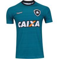 Camisa De Treino Do Botafogo 2017 Topper Com Patrocínio - Masculina - Verde/Preto
