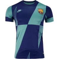 Camisa Pré-Jogo Barcelona 19/20 Nike - Masculina - Aqua