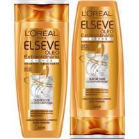 Kit L Oréal Paris Elseve Óleo Extraordinário Cachos 1 Shampoo 400Ml 1 Condicionador 200Ml - Unissex-Incolor