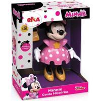 Boneca Minnie Conta Histórias Elka Disney - Feminino-Rosa