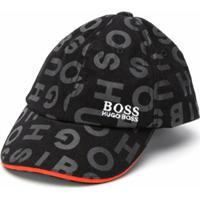 Boss Kids Boné Com Estampa De Logo - Preto