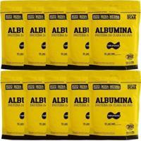 Kit 10 Albumina - 500G Refil Naturovos - Unissex