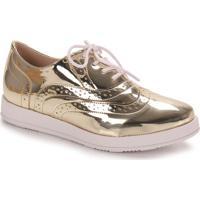 Sapato Oxford Feminino Bebecê - Dourado(A)
