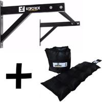 Kit 1 - Barra Fixa + Caneleira 3Kg - Enforce Fitness - Unissex