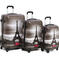 Kit Mala De Viagem Swiss Move Torre Eiffel Masculina - Masculino