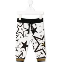 Dolce & Gabbana Kids Calça Esportiva Com Estampa De Estrela - Branco