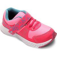 Tênis Infantil No Stress Detalhe Velcro Running - Masculino-Pink+Azul