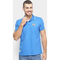 Camisa Polo Ecko Piquet Logo Masculina - Masculino-Azul Navy