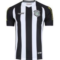 Camisa Do Figueirense I 2018 Topper - Masculina - Preto/Branco