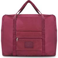 Bolsa De Viagem Jacki Design Dobrável - Unissex-Vermelho Escuro