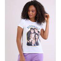 Blusa Feminina Riverdale Manga Curta Decote Redondo Off White