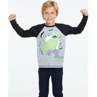 Blusa Infantil Os Vingadores Hulk Marvel