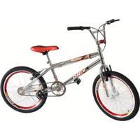 Bicicleta Aro 20 Onix Cross Cromada Com Aero E Selim - Unissex