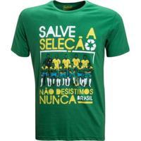 Camisa Liga Retrô Vintage Salve A Seleção - Masculino-Verde