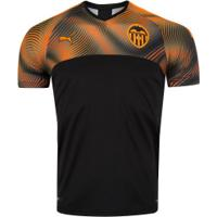 Camisa Valencia Ii 19/20 Puma - Masculina - Preto/Laranja