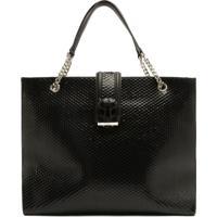 Shopping Bag Hanna Bright Snake Black   Schutz