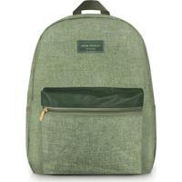 Mochila Com Tag- Verde Escuro & Verde Claro- 42,5X33Jacki Design