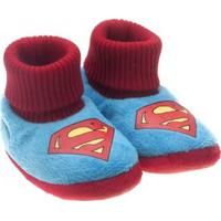 Pantufa Infantil Ricsen Liga Da Justiça - Masculino-Azul