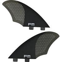 Quilhas De Carbono Fm Surf Carbon Twin Ft2 Biquilha Preto