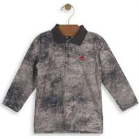Camisa Polo Infantil Marmorizada Cinza