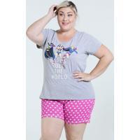 Pijama Feminino Mulher Maravilha Plus Size Disney