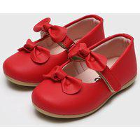 Sapatilha Tricae Infantil Laços Vermelha