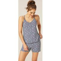 Pijama Azul Nadador Corações