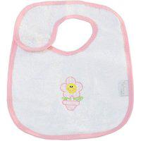 Babador Padroeira Baby Patch Flor Rosa