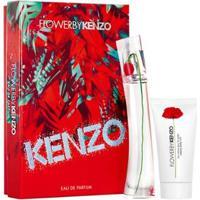 Kit Perfume Feminino Kenzo Flower Edp + Loção Corporal - Feminino-Incolor