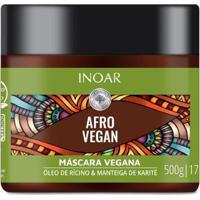 Máscara Inoar Afro Vegan De Tratamento 500G - Unissex-Incolor