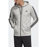 Jaqueta Capuz Adidas French Terry Must Haves Três Listras Masculina - Masculino