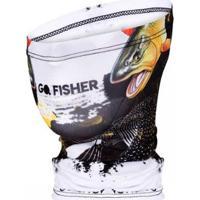 Bandana Go Fisher Proteção Solar Uv 50 - Masculino-Branco