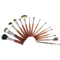 Klass Vough Kit Profissional Brown Com 16 Pincéis - Unissex-Marrom+Prata