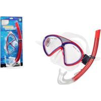 Kit Mergulho Premium Winmax Wmb07521A Vermelho - Unissex