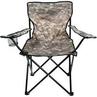 Cadeira Dobrável Camping Pesca Porta Copos Camuflada Bel Lazer - Unissex
