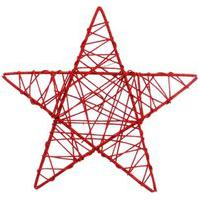 Estrela Rattan Decoraçáo Natal 30Cm Vermelha
