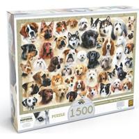 Quebra-Cabeça - 1500 Peças - Cães E Raças - Grow - Unissex-Incolor
