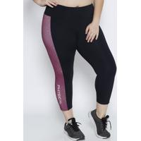 Legging Geomã©Trica- Preta & Rosa- Physical Fitnessphysical Fitness
