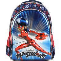 Mochila Escolar Infantil Pacific Miraculous -966K04 - Feminino-Azul