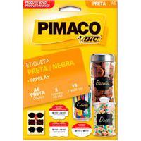Etiqueta Adesiva Pimaco A5 Preta Formatos Sortidos 18 Unidades