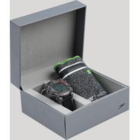 Kit De Relógio Digital Speedo Masculino + Porta Objetos - 80639G0Evnp1K Grafite - Único